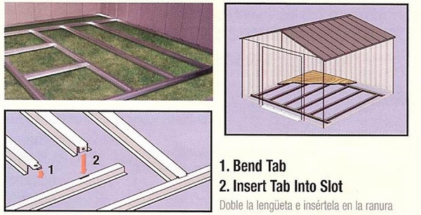 Arrow Outdoor Shed Foundation Kit - 10 X 12 or 10 x 14 - FB1014