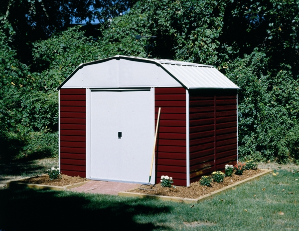 Arrow red barn 10 x 14 storage shed rh1014 for Red metal barn