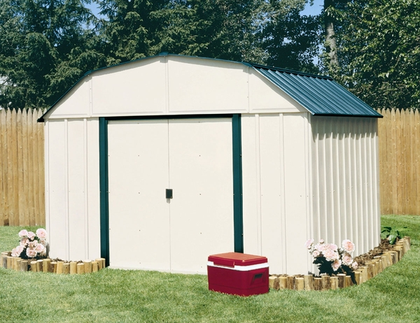 Arrow sheridan vinyl 10 x 14 premium outdoor storage shed for 10 x 8 metal shed with floor