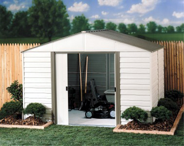 Garden shed accessories 10 x 12 vinyl storage shed for Garden shed repair parts