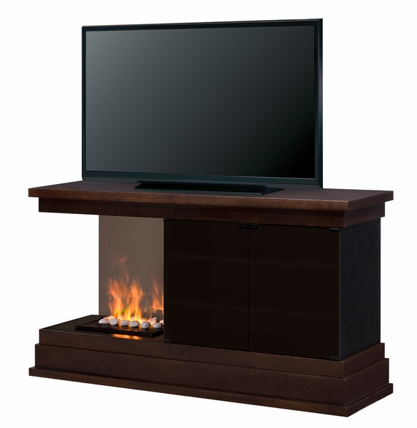 Dimplex Debenham Electric Fireplace Media Console With Opti Myst White Rock Media Bed