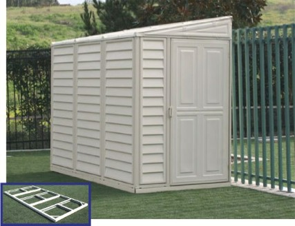 Garden Sheds 4 X 8 sidemate 4 x 8 storage shed with foundation and reversible door