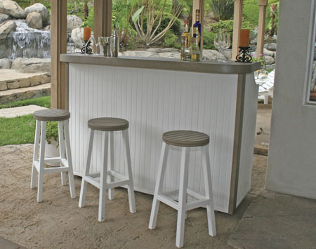 Eagle One Huntington 4 Piece Recycled Plastic Large Patio Bar Set