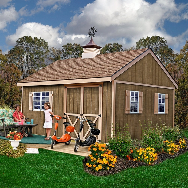 new castle 12 x 16 wood shed kit