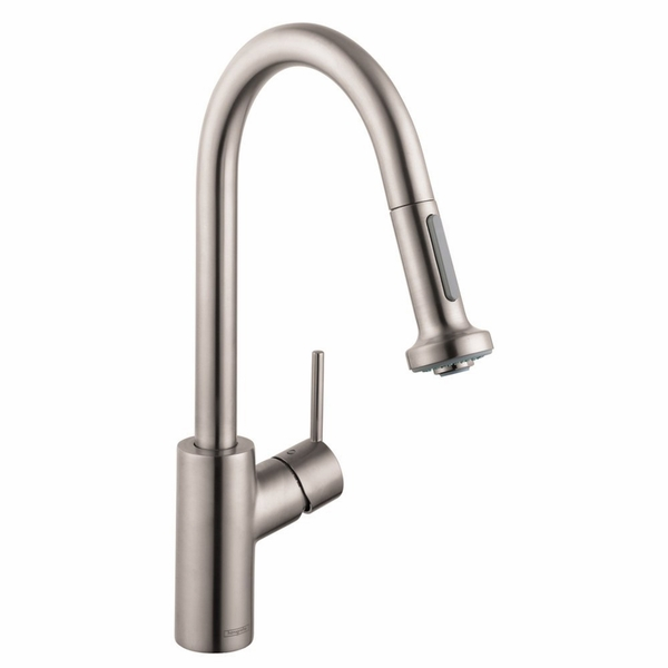 hansgrohe 14877001 talis s kitchen faucet with pull down spray. Black Bedroom Furniture Sets. Home Design Ideas