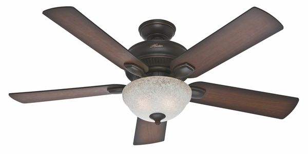 Hunter 54091 Matheston Ceiling Fan with Blades and Light Kit - 52u0026quot;