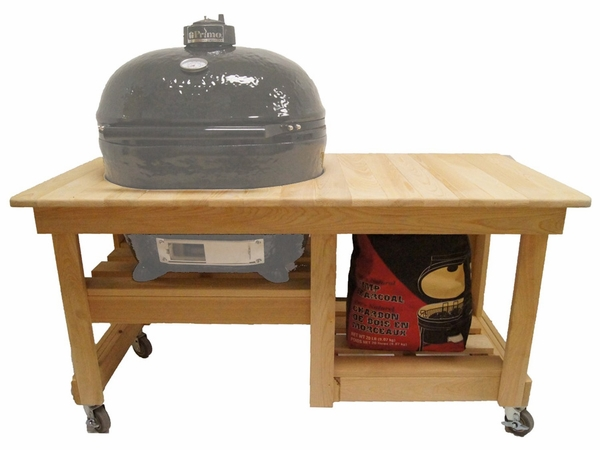 primo grill unfinished cypress countertop table - Primo Grills