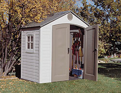 & Sentinel 8 X 5 Plastic Storage Shed by Lifetime