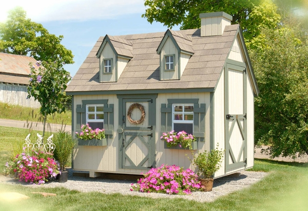 Small cape cod wooden outdoor playhouse kit 4 x 6 4x6 for Outdoor playhouse kit