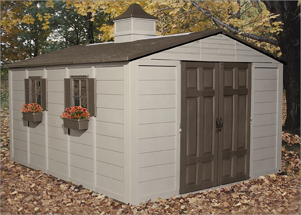 Storage sheds and storage buildings free shipping for Resin garden shed