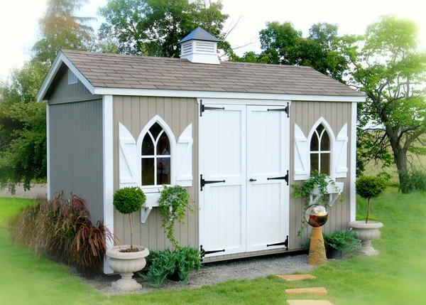 The workshop wood garden storage shed kit 10 x 10 for Garden shed 10x10