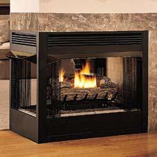 Vantage hearth logmate fbps peninsula vent free gas for Vantage hearth