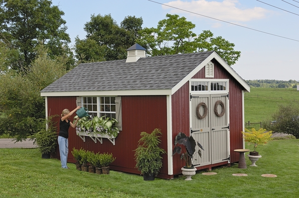 Williamsburg colonial wooden outdoor garden shed kit 12 for 12x18 shed window