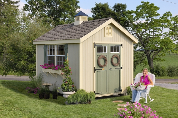 Gentil Williamsburg Colonial Wooden Outdoor Garden Shed Kit   8 X 12   8x12  WCGS WPNK