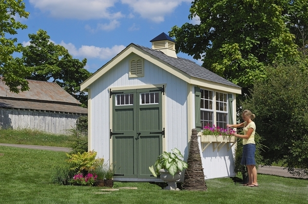 williamsburg colonial wooden outdoor garden shed kit 8 x 8 8x8 wcgs wpnk - Garden Sheds 8x8