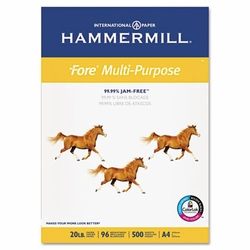 20 lb. Fore Multi-Purpose A4 Paper by Hammermill® - Pre-Punched (Ream)