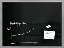 "47"" x 35"" Magnetic Glass Board"