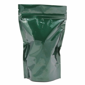 8 oz Stand Up Zip Pouch (Green)