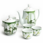 Bamboo Scenic Chinese Tea Set