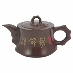 Bamboo Style Grained Jade Stone Rare Teapot