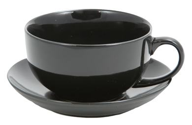 Black Ceramic Teacup With Saucer Enjoyingtea Com