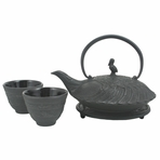 Black Crane Iron Cast Tea Set