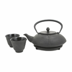 Black Dragonfly Cast Iron Tea Set