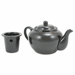 Black Teapot with Infuser