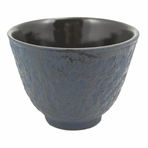 Blue Cast Iron Teacup