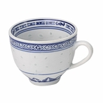 Blue & White Chinese Restaurant Cup with Handle