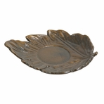 Bronze Maple Leaf Cast Iron Saucer