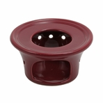 Burgundy Ceramic Teapot Warmer
