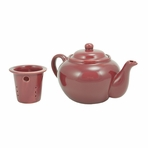 Burgundy Teapot with Infuser