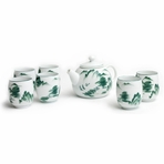 Chinese Mountain and River Tea Set