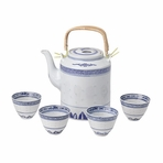 Classical Blue & White Chinese Restaurant Tea Set