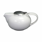 Contemporary White Ceramic Teapot