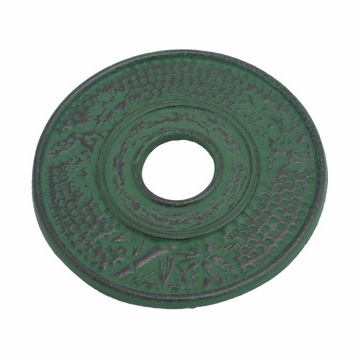 Green Bamboo Cast Iron Trivet
