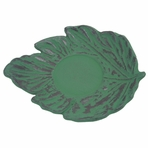 Green Maple Leaf Cast Iron Saucer