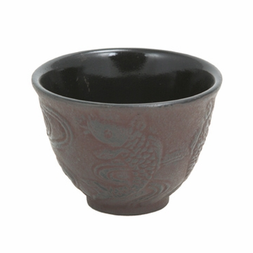 Japanese Koi Cast Iron Teacup