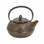 Large Bronze Dragon Cast Iron Teapot