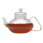 Large Classical Filtering Glass Teapot