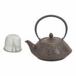 Large Warriors Cast Iron Teapot