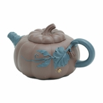 Pumpkin Yixing Clay Teapot