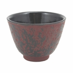 Red Cast Iron Teacup