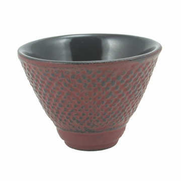 Red Nail Head Cast Iron Teacup