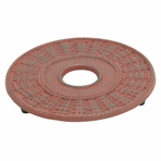 Red Traditional Cast Iron Trivet