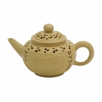 Small Artistic Double Wall Yixing Clay Teapot