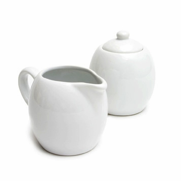 White Cream and Sugar Set