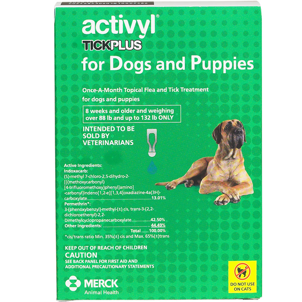 12 MONTH Activyl Spot-On for Extra Large Dogs & Puppies (88-132 lbs)