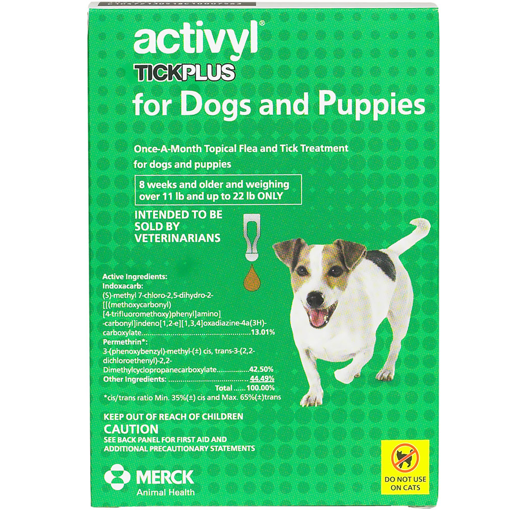 12 MONTH Activyl Spot-On for Small Dogs & Puppies (14-22 lbs)